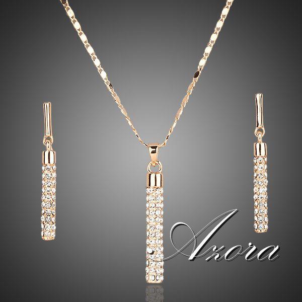 Ювелирный комплект AZORA Серьги и Ожерелье