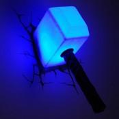 Пробивной настенный светильник 3D, в ассортименте