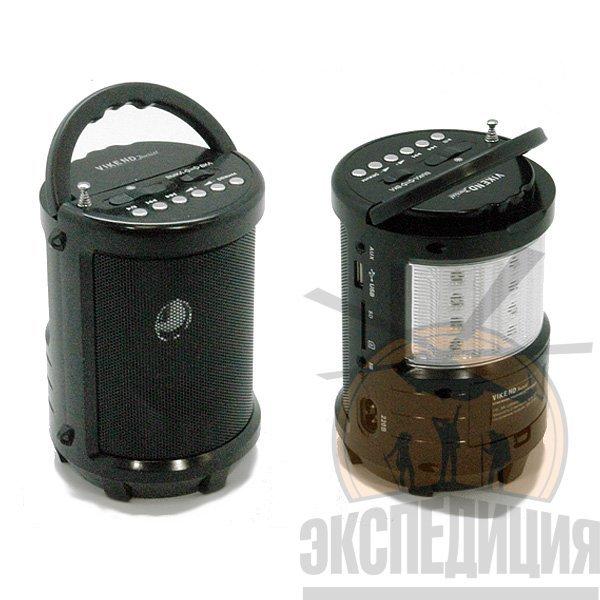 """Радиоприемник кемпинговый """"TOURIST, аккумуляторный, с 2 фонарями"""