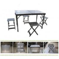 Туристический складной стол для пикника со стульями 4шт