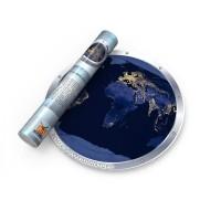 """Карта мира ночная """"Земля в иллюминаторе"""""""