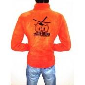 Толстовка флисовая оранжевая