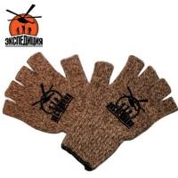 Зимние рабочие перчатки с открытыми пальцами
