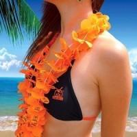 """Гавайские бусы """"Оранжевое настроение"""""""