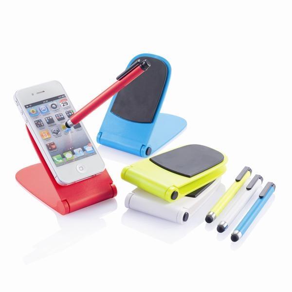 Подставка для смартфона со стилусом Push