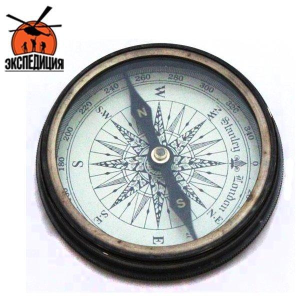 """Старинный медный компас в кожаном чехле """"Миклухо-Маклай"""