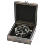 """Компас с солнечными часами в деревянной коробке, """"Америго Веспуччи"""""""