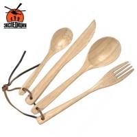 Набор столовый деревянный (нож, вилка, ложка чайная, ложка столовая)