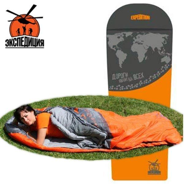 Спальный мешок с оригинальным рисунком карты мира