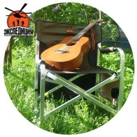 Складной стул гитариста со столиком и карманом для гитары