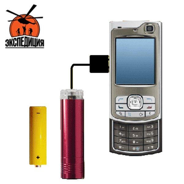 Мультизарядка для мобильных телефонов от батарейки