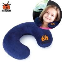 Детская подушка-подголовник, синяя