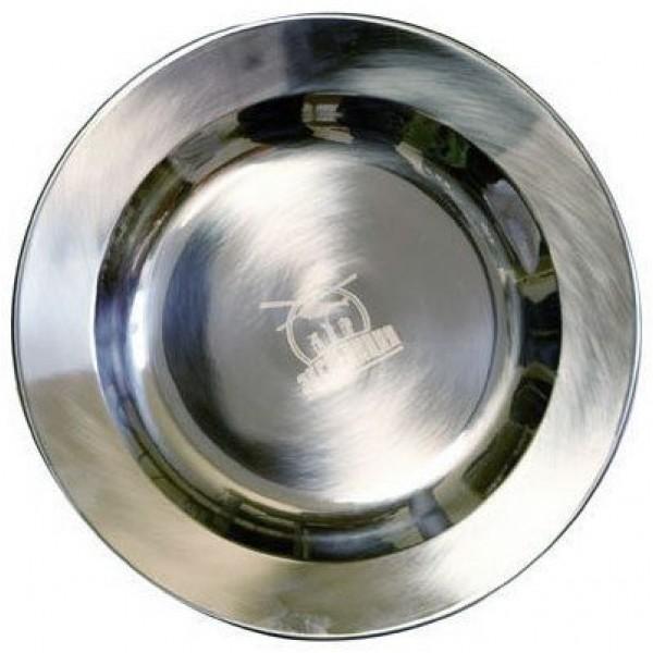 Тарелка из нержавеющей стали плоская
