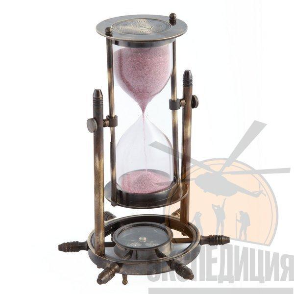 """Песочные часы с компасом """"Вечер на рейде"""""""