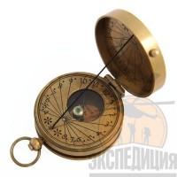 """Медный компас """"Ватерлоо"""" с солнечными часами"""