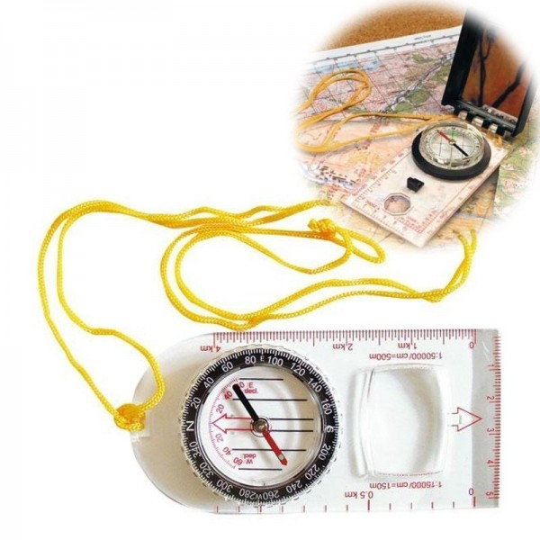 Планшетный компас с увеличительным стеклом