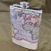 Фляга металлическая «Мировая» с картой мира