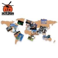 Настенная карта мира из пробки