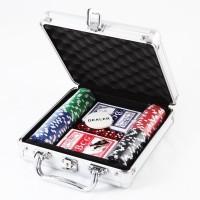 """Покерный набор """"Фулл-Хаус"""" в металлическом кейсе, 100 фишек"""
