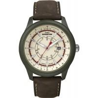Мужские кожаные часы с тахиметром Timex Expedition Camper