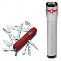 Офицерский нож Victorinox Huntsman II + фонарь AA LED