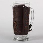 Пивной бокал в футляре из натуральной кожи, в ассортименте