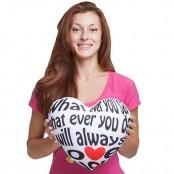 """Подушка сердце """"I will always love you"""""""
