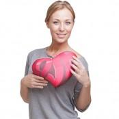 "Подушка в форме сердца ""Love"""
