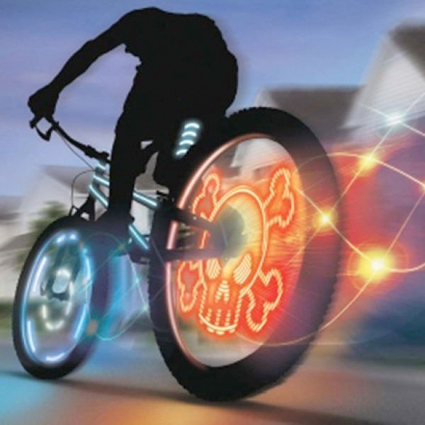 """Насадка на колесо """"Призрачный велогонщик"""""""